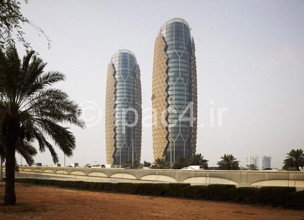 عکس آسمان خراش طراحی شده با سیستم هوشمند , برج ابوظبی در ایالت متحده عربی,عکس آسمان خراش و برج