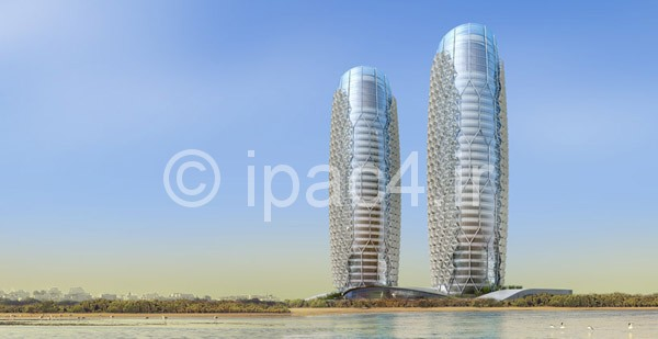 عکس آسمان خراش طراحی شده با سیستم هوشمند , برج ابوظبی در ایالت متحده عربی