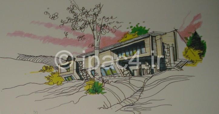عکس از نمونه اسکیس و راندو در معماری,پرسپکتیو خارجی,راندوی پرسپکتیو خارجی,پرسپکتیو,راندو,اسکیس,عکس پرسپکتیو,آموزش اسکیس و راندو