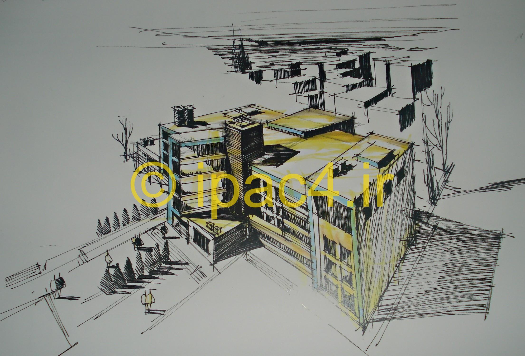 پرسپکتیو دید پرنده,راندو و اسکیس,اسکیس و راندو,پرسپکتیو خارجی,عکس از پرسپکتیو خارجی,مدل راندوی پرسپکتیو,راندو در معماری,راندو,اسکیس,عکس اسکیس,مدل اسکیس