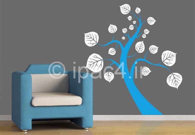 برچسب های دیواری برای اتاق نشیمن و پذیرایی,برچسب های دیواری,پرچسب دیوار,معماری داخلی,دکوراسیون اتاق نشیمن