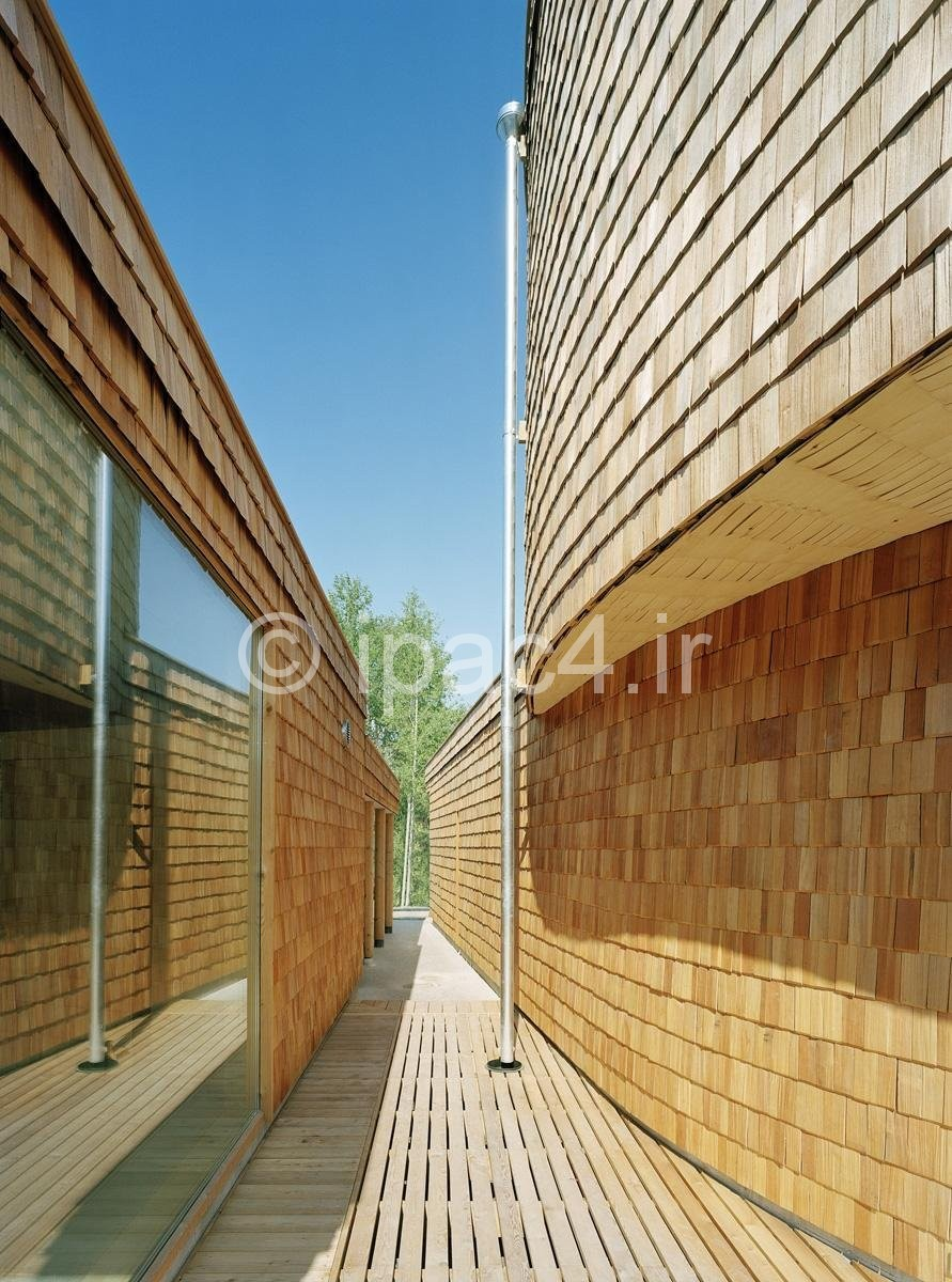 عکس از خانه مارپیچی شکل در اسپو، فنلاند,عکس خانه,معماری خانه,پلان خانه