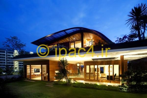خانه ویلایی,بام سبز,خانه بسیار زیبا با بام سبز,معماری بام سبز,عکس بام سبز,عکس از ویلا,خانه ی زیبا طراحی شده با معماری سبز,معماری سبز