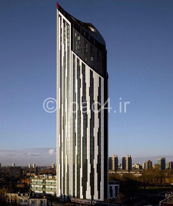 عکس از آسمان خراش تیغ در لندن,عکس برج,برج در لندن,برج,عکس معماری