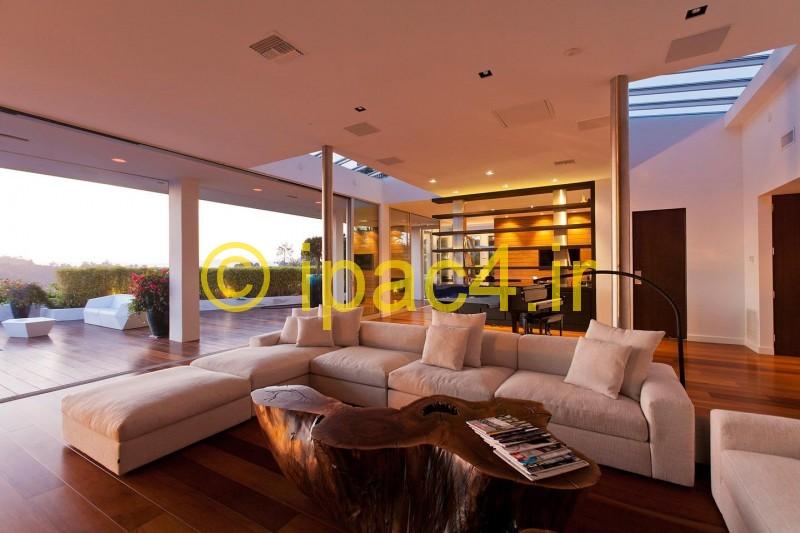 عکس از ویلا و محل اقامت   با نمای شیشیه ای و سنگ و چوب … دارای ۴ اتاق خواب,۵ حمام و سرویس , یک آبگرم و استخر خصوصی ,عکس ویلا,نمای ویلا,معماری ویلا,عکس خانه ویلایی