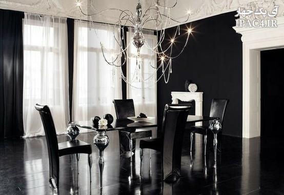 black-and-white-dining-areas-18عکس مدل میز ناهار خوری,میز ناهار خوری,اتاق ناهار خوری,معماری داخلی,مبلمان,عکس میز ناهار خوری,مدل میز غذا خوری,مدل میزناهار خوری 2014