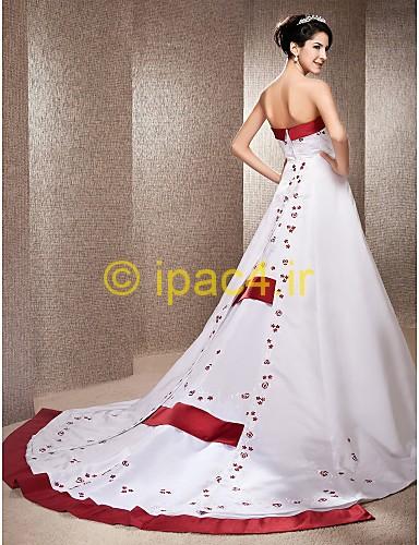 لباس مجلسی پشت بلند,لباس مجلسی دنباله دار,لباس مجلسی سفید,لباس مجلسی قرمز,پیرهن مجلسی سفید و قرمز,پیراهن مجلسی پشت بلند و دنباله دار