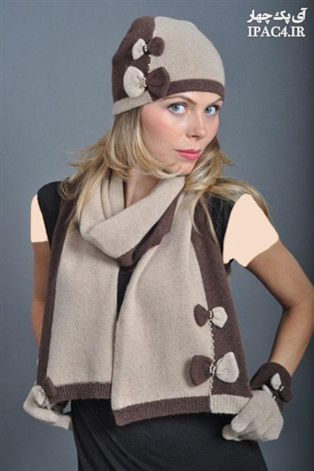 مدل شال و کلاه بافت دخترونه,شال گردن و کلاه,شال گردن بافتنی,کلاه بافتنی,عکس شال گردن و کلاه,شال و کلاه دخترونه