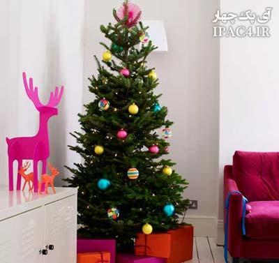 مدل تزیین درخت کریسمس برای کریسمس 2014,تزیین درخت شب کریسمس,کریسمس 2014,تزیینات کریسمس 2014,هنر در خانه,نمونه هایی زیبا از تزیین درخت کریسمس برای ما ایرانی ها در منزل
