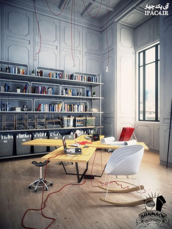 اتاق مطالعه,میز کامپیوتر,میز و صندلی کامپیوتر,عکس میز کامپیوتر,میز لبتاپ,دکوراسیون اتاق مطالعه,میز مطالعه,معماری داخلی و دکوراسیون