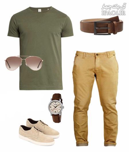 روش ست کردن لباس آقایان با رنگ سبز