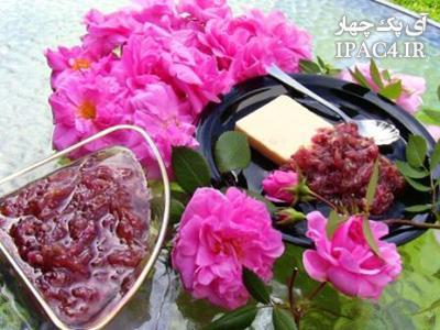رفع تلخی مربا گل محمدی