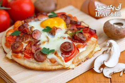 طرز تهیه پیتزا مخصوص صبحانه