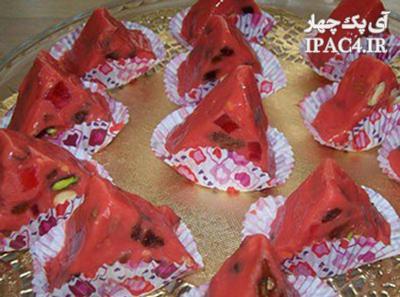 طرز تهیه شکلات هندوانه ای برای شب یلدا